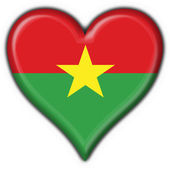 Burkina faso button flag heart shape