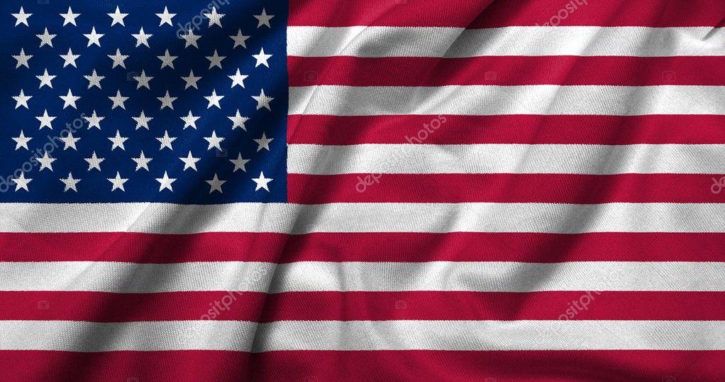 3D Flag of USA satin