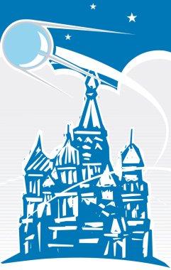 Sputnik over Red Square