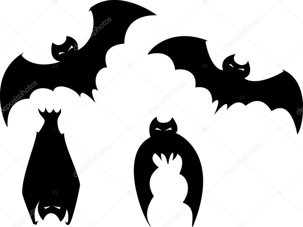 Conjunto de morcegos halloween vetor de stock - Murcielagos para halloween ...
