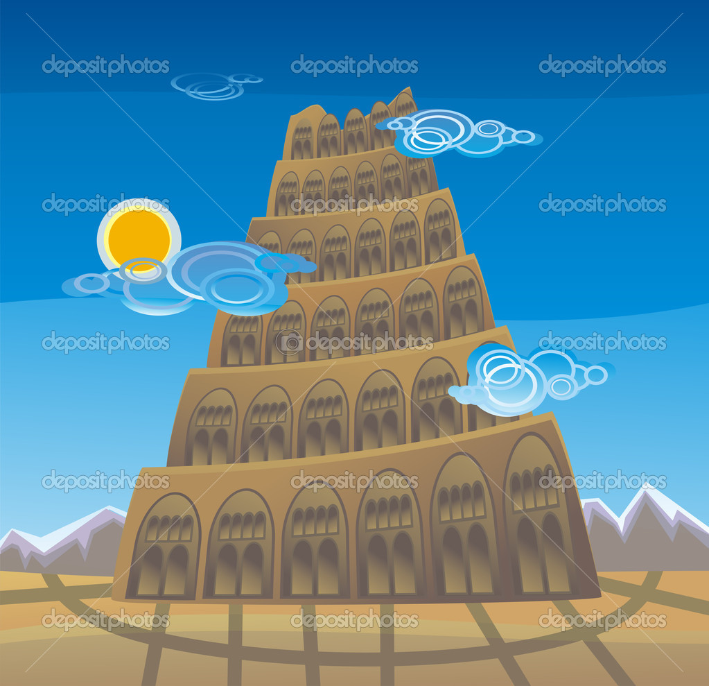 Tower Of Babel Stock Vector C Tandemich 3424981