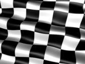 Flagge am Ende des Rennens