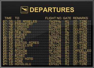 International Airport Departures Board