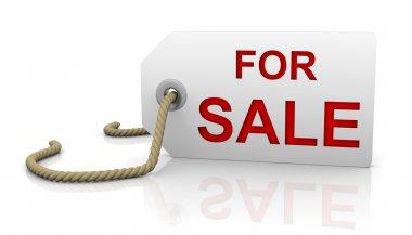 For sale tag in right position