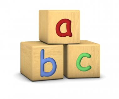 Wood blocks with abc letters