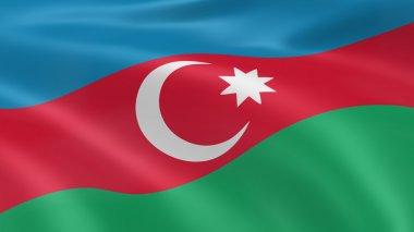 Azerbaijani flag in the wind