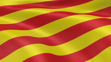 Catalonian flag in the wind