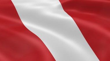Peruvian flag in the wind