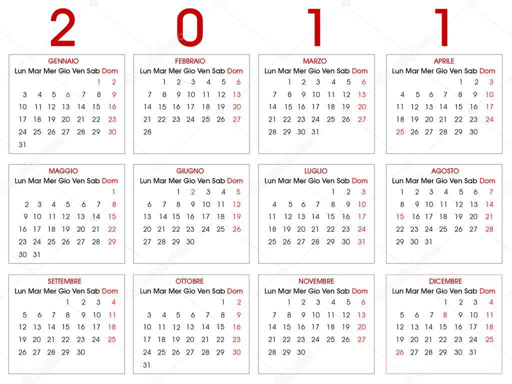 2011 Calendario.Calendario 2011 Stock Vector C Morenina 2890601