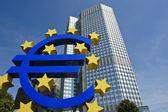 Evropská centralbank se symbol měny euro
