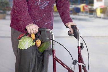 Senior woman taking a shopping