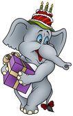 Fotografia elefante e regalo