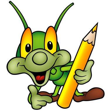 Happy Green Bug Painter