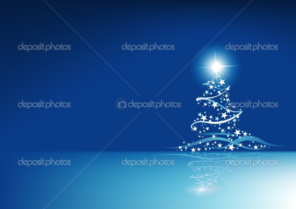 Blue Christmas Abstraction