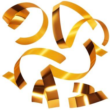 Gold Confetti - colored illustration, vector clip art vector
