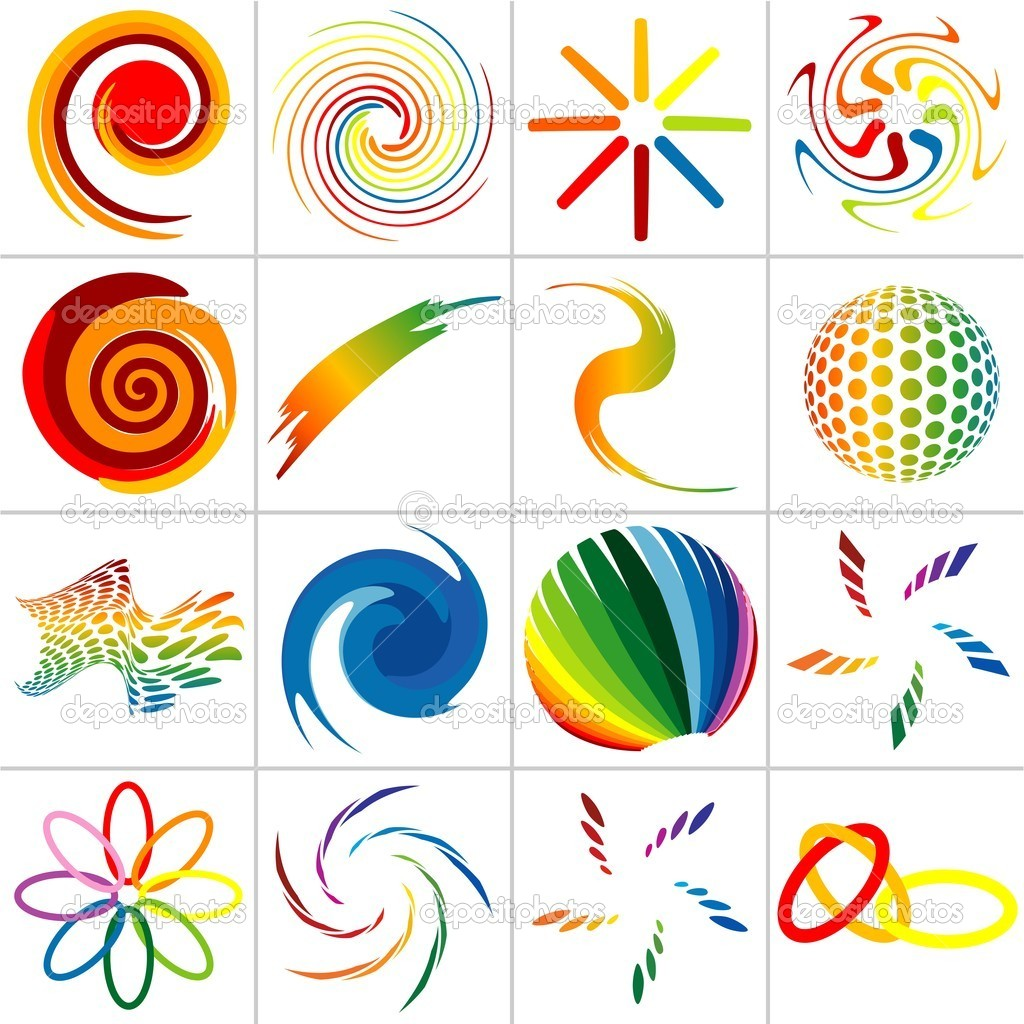 Colored Abstract Symbols