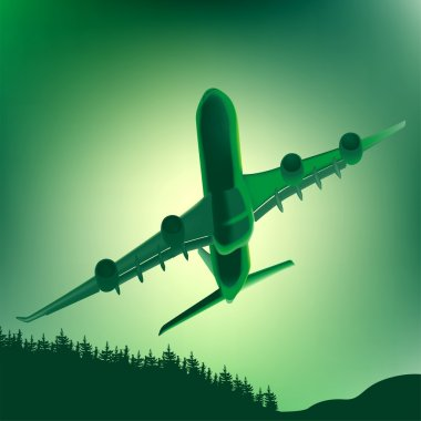Airplane and Landscape