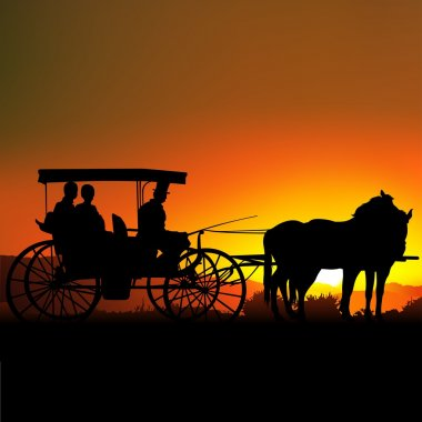 Carriage at Sunset