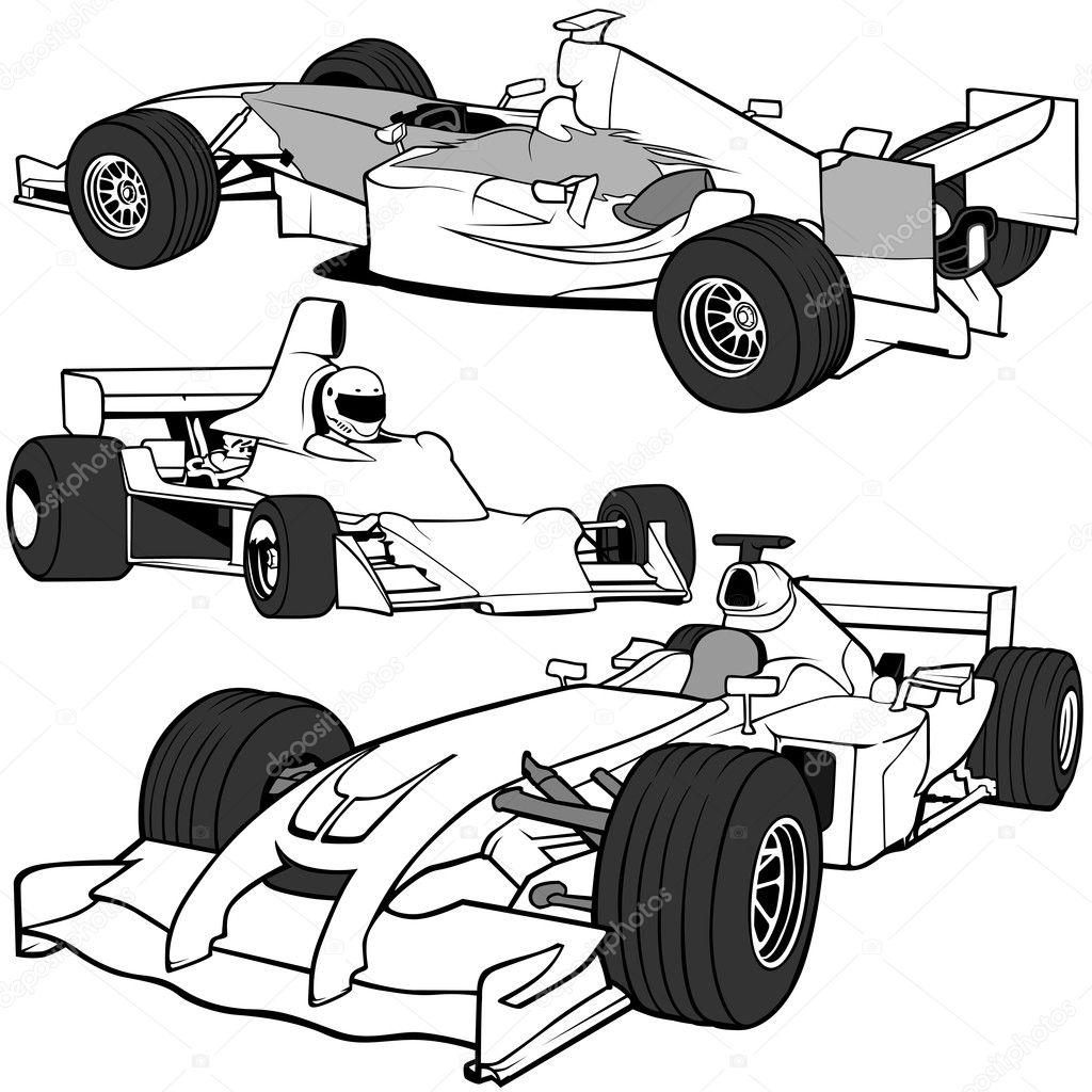 racing cars — stock vector © dero2010 3168405