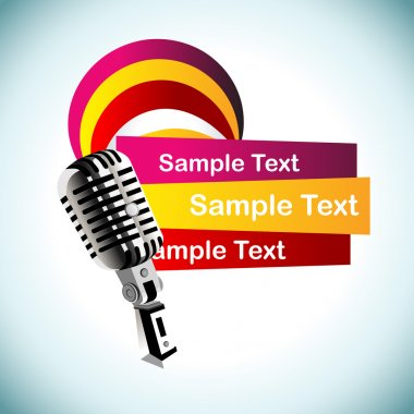 Abstract vector mic background