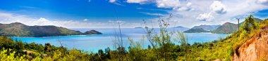 180° panorama of praslin