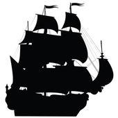 Fekete brigantine sziluett