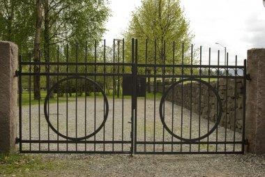 Iron cemetery gate.