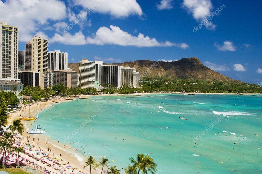 Waikiki Beach Hawaii Stock Photo C Tomasfoto 2853774