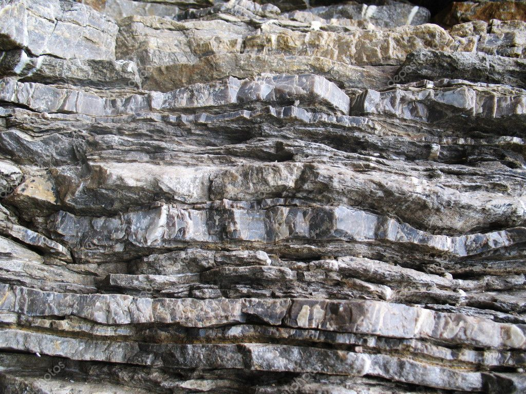 Layered rock