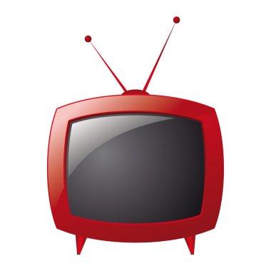 Red retro television