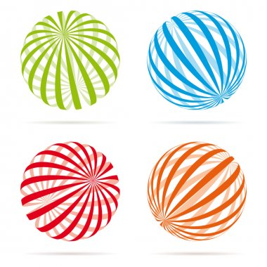 Various Striped globes