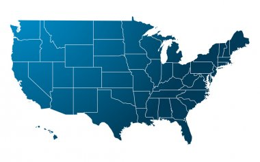 Blue USA map