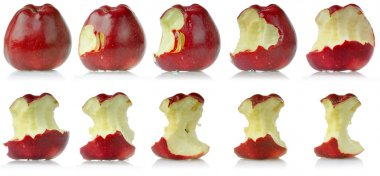 Sequence of eaten apple