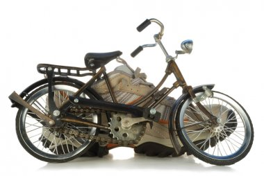 A toy bicycle