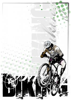 Moutain bike vertical background