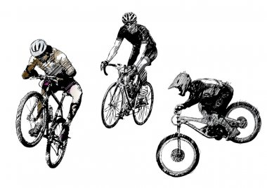 Bikes trio
