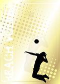 Röplabda arany poszter háttér 2
