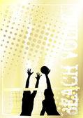 Röplabda arany poszter háttér 4