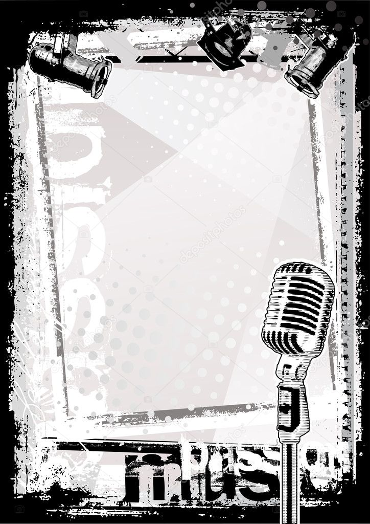 Microphone poster background