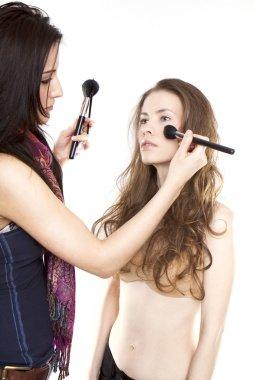 Model and make-up artist