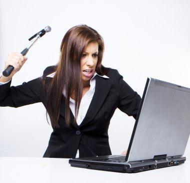 Computer hacker attack