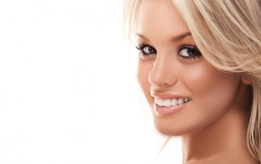 Beautiful smiling blonde girl