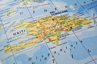 Dominican Republic, Haiti map.