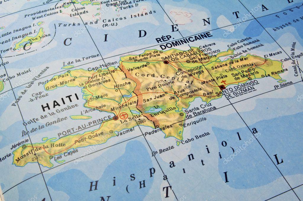 karta haiti dominikanska republiken Dominikanska republiken, haiti karta — Stockfotografi © FER737NG  karta haiti dominikanska republiken