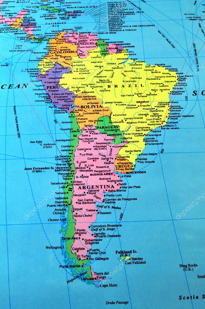 South America Map Stock Photo FERNG - Campinas map