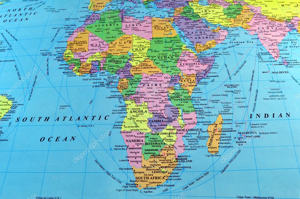 Africa map Stock Photo FER737NG 3038222
