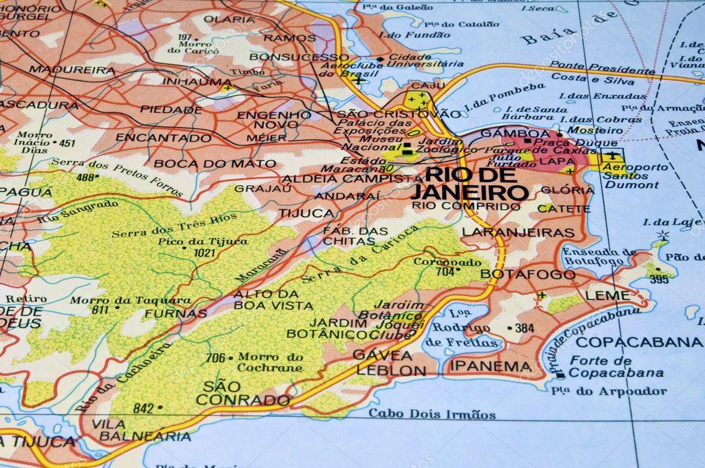 Rio de Janeiro map. — Stock Photo © FER737NG #3720928