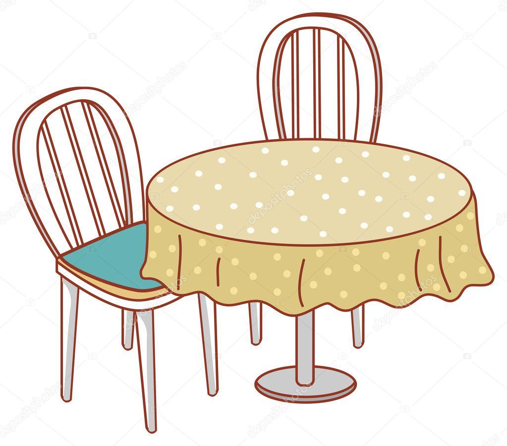 Mesa redonda e cadeira fotografias de stock for Mesas de dibujo baratas