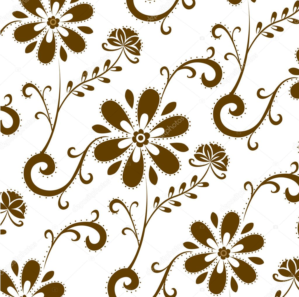Brown flower patterns — Stock © realrocking