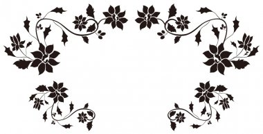 Black flower pattern